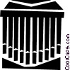 Vector Clip Art image  of a organ pipes
