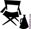 Folding Chair Vector Clipart image