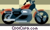 Cool street bike Vector Clipart image