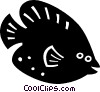 Vector Clip Art graphic  of a tropical fish