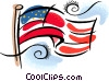 American flag Vector Clipart picture