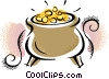 Vector Clipart image  of a pots of gold