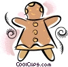 Vector Clip Art image  of a Gingerbread cookie