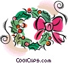 Vector Clip Art picture  of a Wreaths