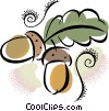 Vector Clip Art picture  of a Seeds and Acorns