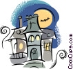 Vector Clip Art image  of a Haunted Houses