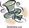Vector Clipart graphic  of a Top hat and bow tie