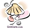 Vector Clipart image  of a Scallop