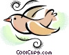 Vector Clip Art graphic  of a Bird flying