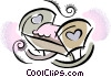 Vector Clipart picture  of a Baby bed