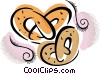 Vector Clipart picture  of a Pretzels