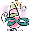 Vector Clipart graphic  of a Mardi Gras