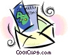 Vector Clip Art graphic  of a Greeting Cards