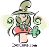 Vector Clipart picture  of a Leprechauns