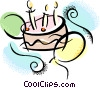 Vector Clipart illustration  of a Birthday cake