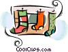 Stockings Vector Clipart graphic