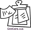 Vector Clip Art picture  of a clipboard