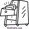 Vector Clip Art picture  of a filing cabinets