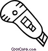 Vector Clipart picture  of a utility knife