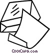 Vector Clipart graphic  of a paper