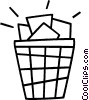 Vector Clipart image  of a garbage can