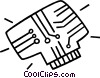 Vector Clipart graphic  of a processor