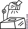 overhead projector Vector Clipart picture