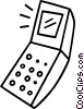 Vector Clip Art picture  of a cellular phone