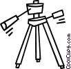 Vector Clip Art image  of a camera stand