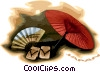Japan postcard design Vector Clipart illustration