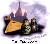 Vector Clip Art graphic  of a Russia postcard design