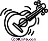 acoustic guitar Vector Clip Art graphic