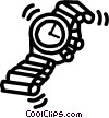 wristwatch Vector Clip Art graphic
