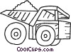 Vector Clipart picture  of a Dump Trucks