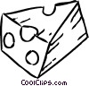 Vector Clipart illustration  of a Cheeses