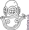 Vector Clipart graphic  of a Scuba Diving