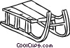 Tobogganing Vector Clip Art image
