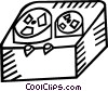 Vector Clipart graphic  of a tape redcorder