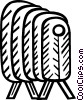 electric heater Vector Clipart picture