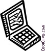 Vector Clipart picture  of a notebook computer