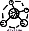 Vector Clipart picture  of an atoms