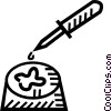 Vector Clipart graphic  of a eye dropper