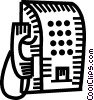 pay phone Vector Clipart illustration