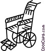 Vector Clip Art picture  of a wheelchair
