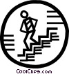 Vector Clipart graphic  of a stairs