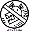 Vector Clipart picture  of a no dogs sign