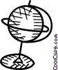 Vector Clipart graphic  of a globe