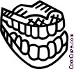 Vector Clipart graphic  of a teeth