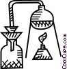 Vector Clipart image  of a test tubes