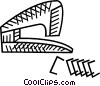Vector Clip Art image  of a stapler with staples
